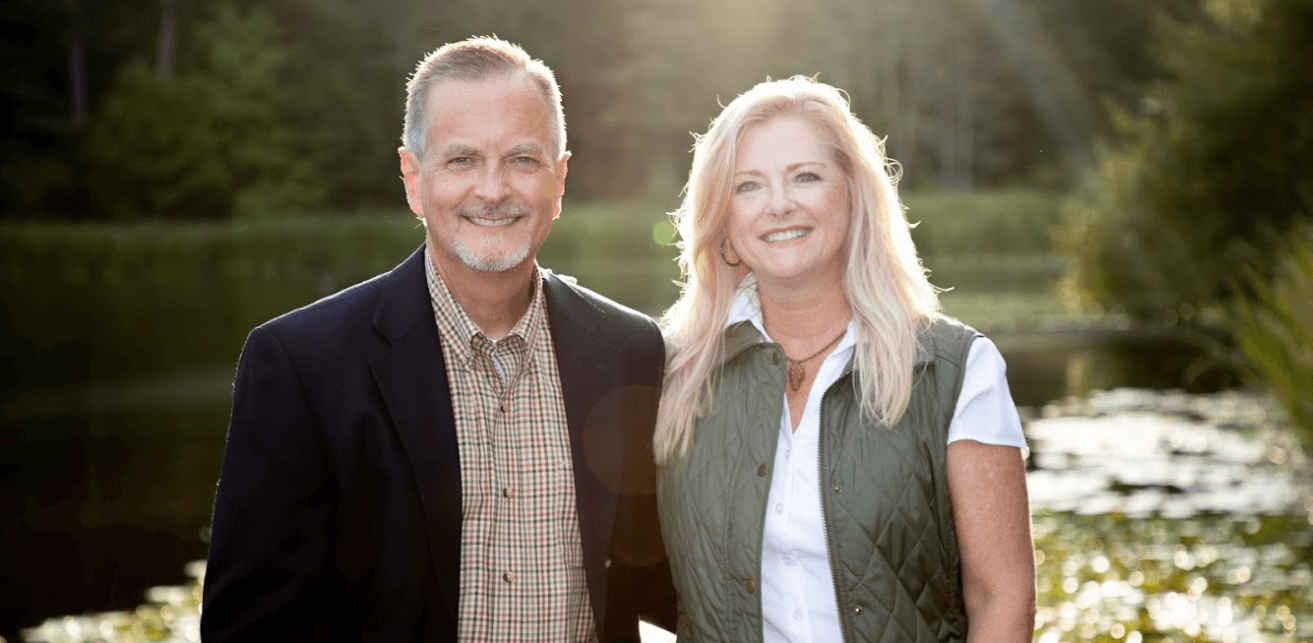 Judge Campbell Cox, mediator and arbitrator, and wife Jennie Williams Cox in Nacogdoches, East Texas