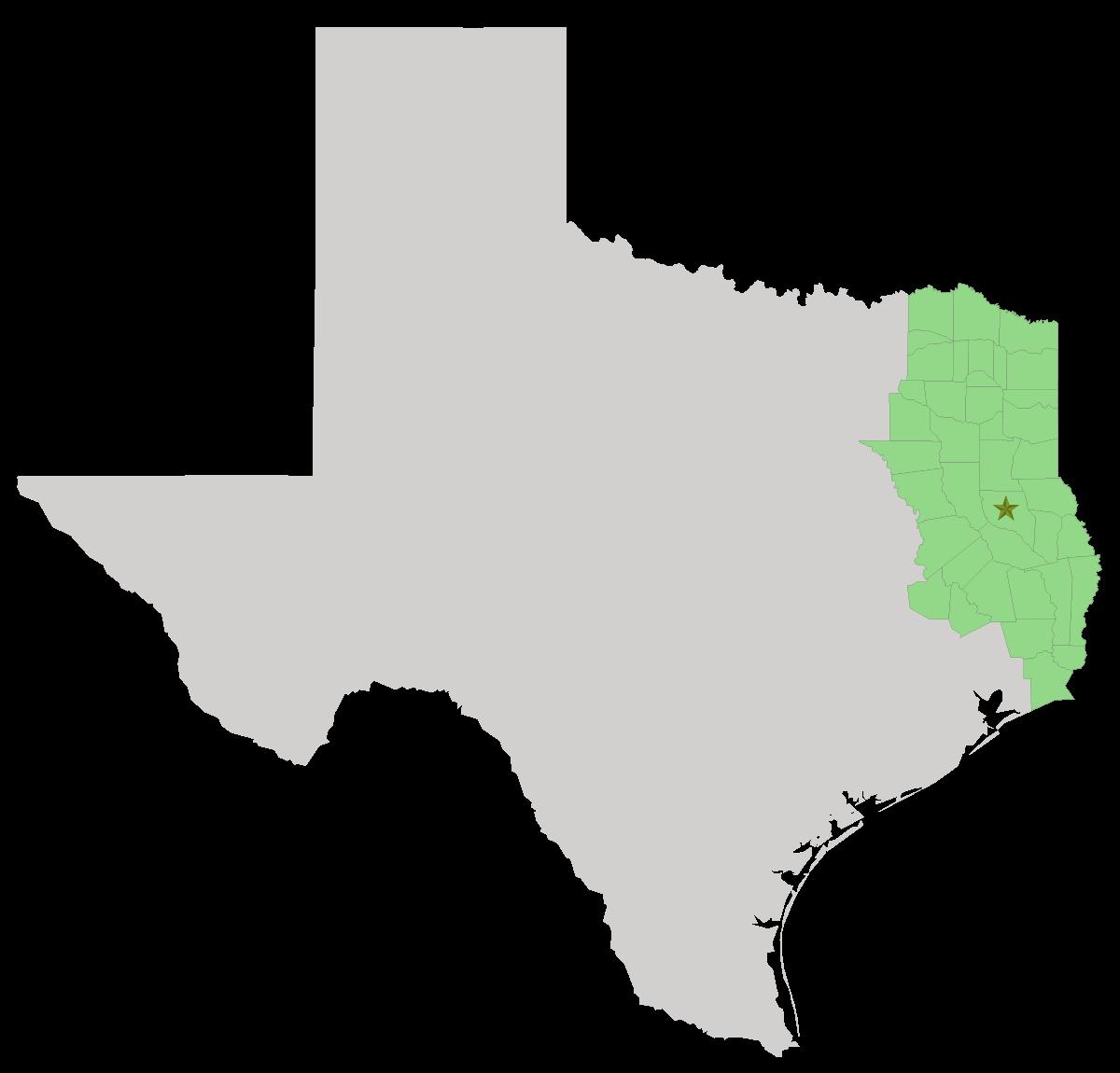 Map of where to find the best arbitrator or mediator in east texas, beaumont, tyler, longview, port arthur, huntsville, tx